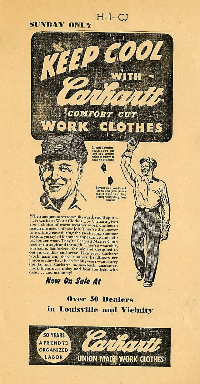 Carhartt advertisement, circa 1939
