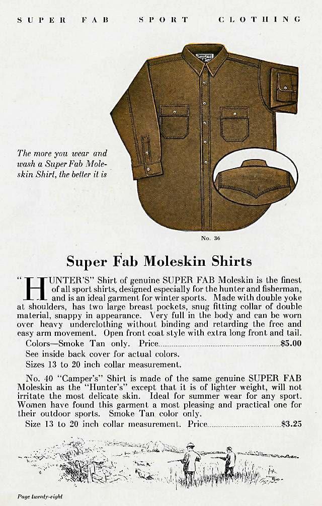Moleskin Shirts, 1931