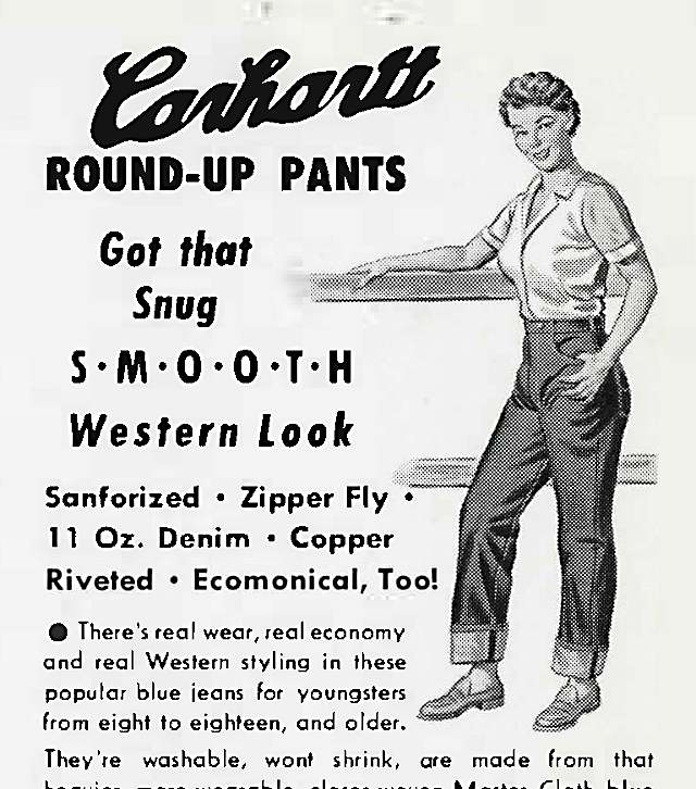 Women's Round-Up Pants ad, 1952