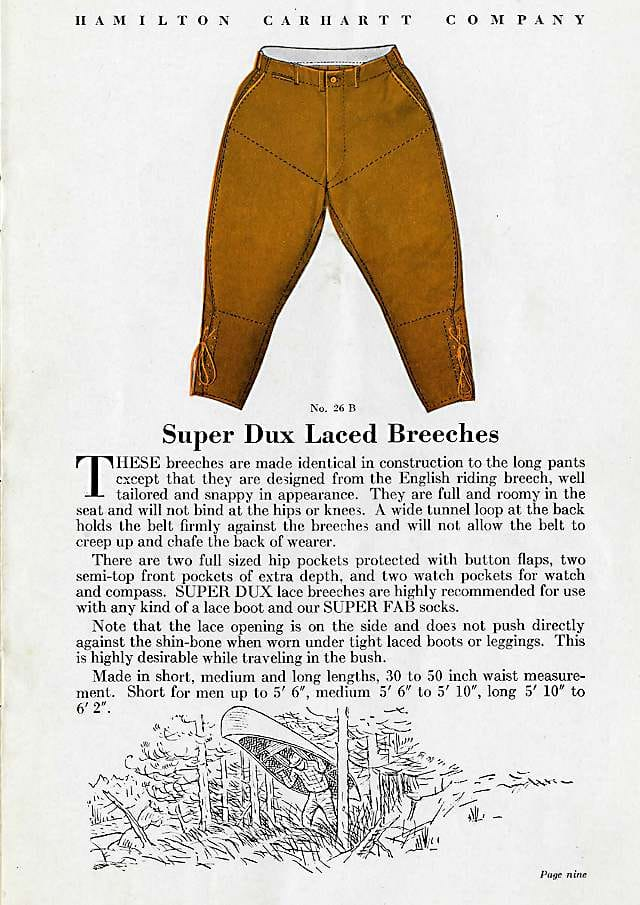 Super Dux pants offerings pg 2, 1930