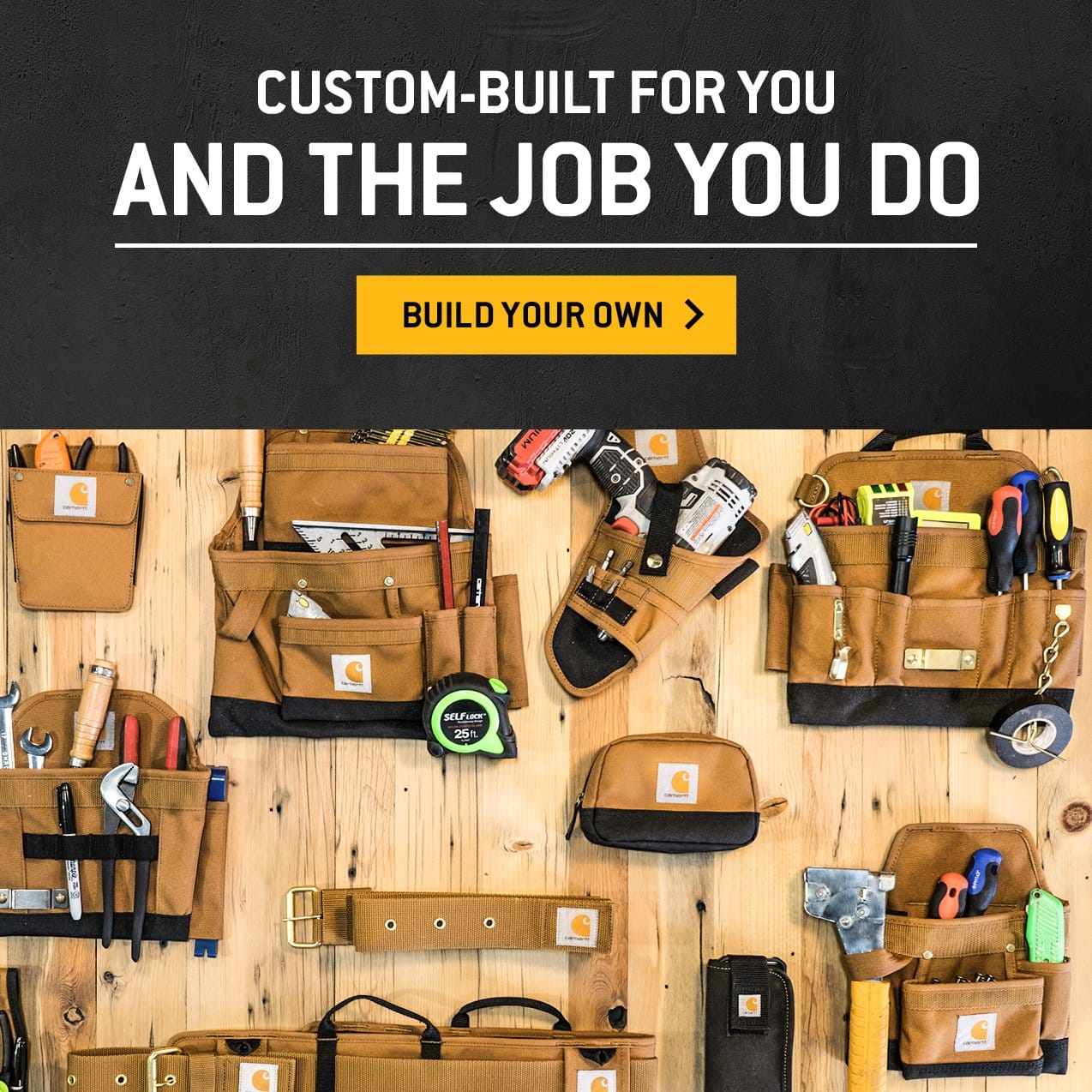 Custom-built for you and the job you do, build your own